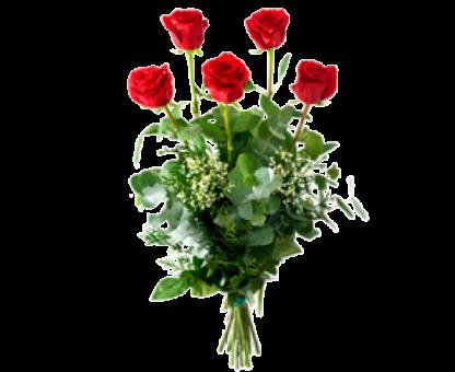 Ramo 5 rosas rojas